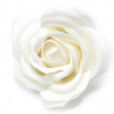Craft Soap Flowers - Lrg Rose - White