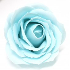 Craft Soap Flowers - Lrg Rose - Baby Blue
