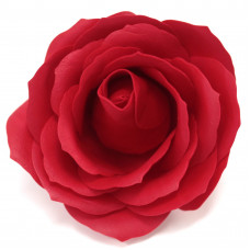 Craft Soap Flowers - Lrg Rose - Red