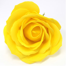 Craft Soap Flowers - Lrg Rose - Yellow