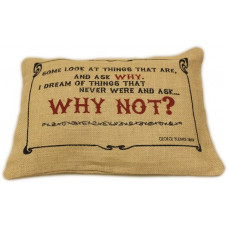 Washed Jute Cover 38x25cm - Why Not?