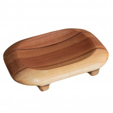 Classic Mahogany Soap Dish - Oval in Rectangle