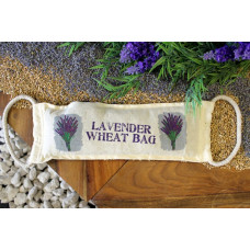 Natural Cotton Wheat Bags - Lavender