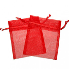 Small Organza Bags - Red