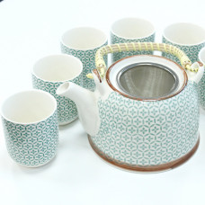 Herbal Teapot Set - Green Mosaic