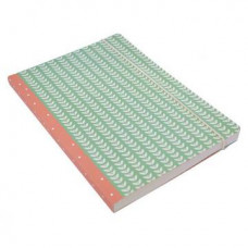A5 Perfect Bound Clover Leaf Notebook (green/pink)