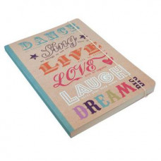 A5 Perfect Bound Happy Quotes Notebook
