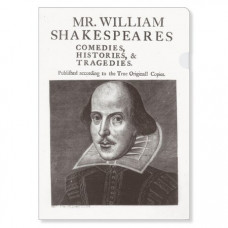Shakespeare's first folio edition A4 Pocket File