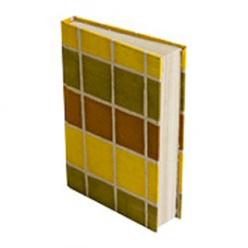 Treeless Lokta Paper A5 Hardbound Notebook (yellow check)