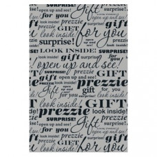 Silver gift words Wrapping Paper